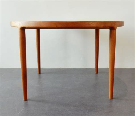 solid teak dining table solid teak extendable dining table from the sixties 61419