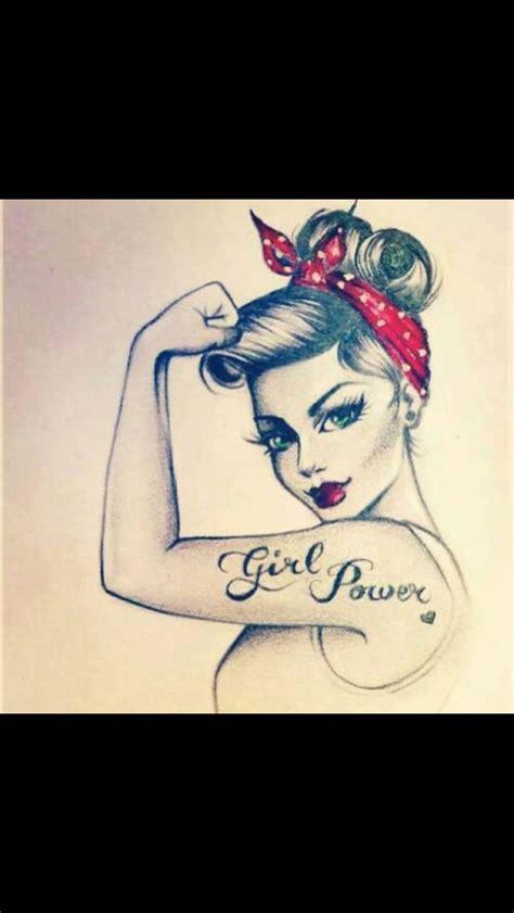 tattoo girl power girl power pin up girl tattoos pinterest