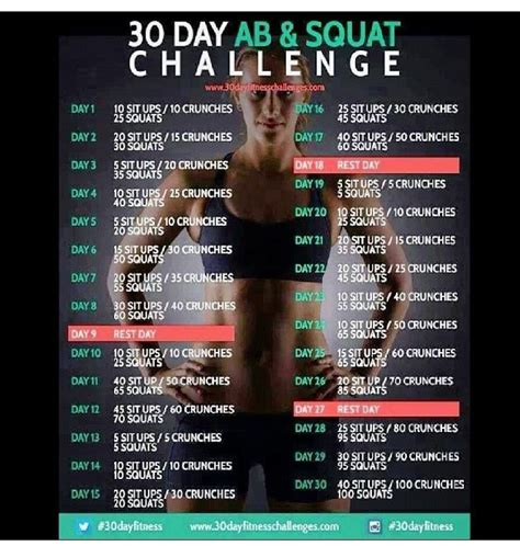 squat challenge and ab challenge search results for 30 days ab challenge calendar 2015