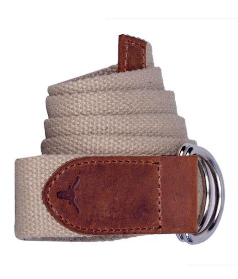 hidekraft khaki canvas leather belt buy at low