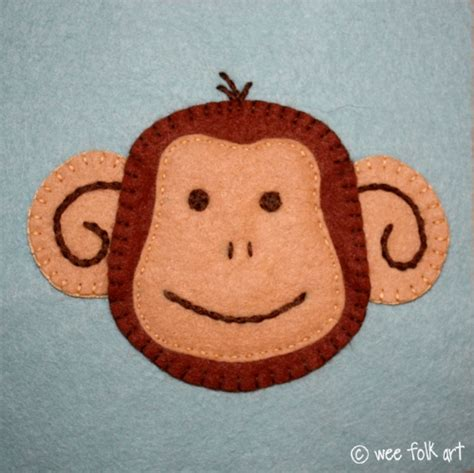 monkey applique monkey applique block wee folk