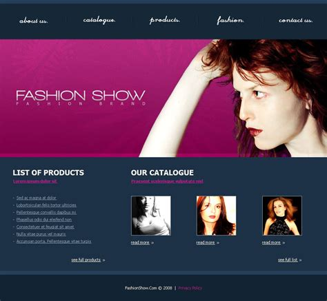 clothing web themes 31 fashion designers website themes templates free