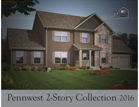 pennwest homes 2 story floor plans by the commodore