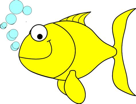 fish clipart fish yellow clip at clker vector clip
