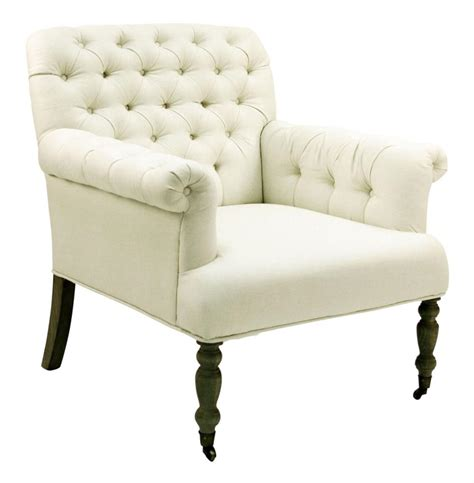 linen armchair lorraine white tufted linen arm chair kathy kuo home