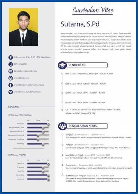 cara membuat cv indonesia 25 contoh cv lamaran kerja yang menarik dan kreatif cara