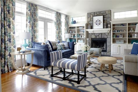 family room beach style living room new york by