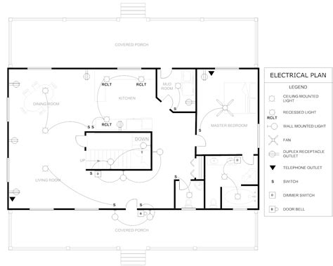 floor plan example house electrical plang sample plans head