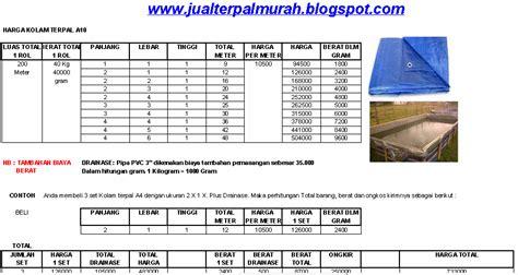 Harga Terpal Kolam 2 3 jual terpal murah daftar harga kolam terpal a10