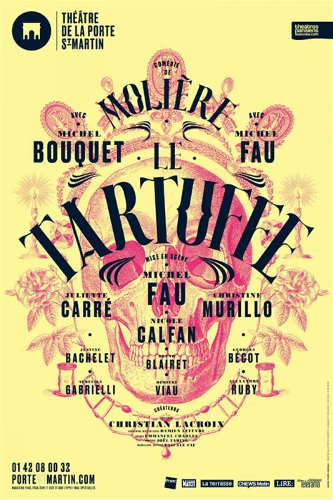 michel bouquet porte saint martin le tartuffe avec michel bouquet et michel fau th 233 226 tre de