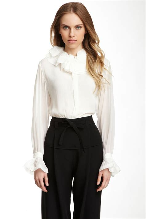 Blouse Ruffle 17 best images about beautiful blouses on brooches ruffle blouse and blouse and skirt