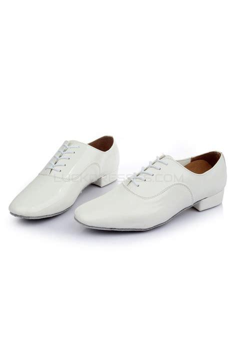 flat ballroom shoes s white leatherette modern ballroom