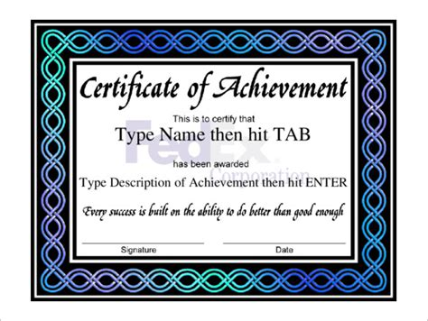 free certificate of achievement templates for word professional certificate template 29 free word format