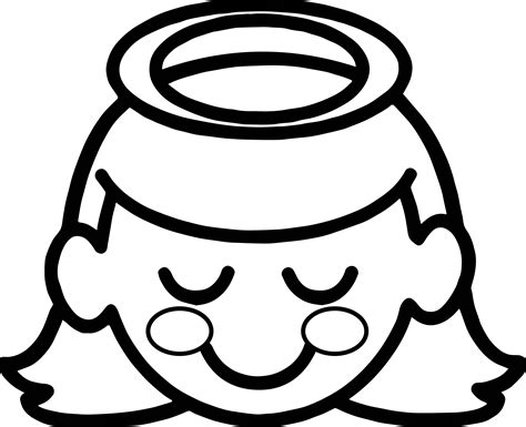 girl head coloring page halo a little girl angel with halo over her head coloring