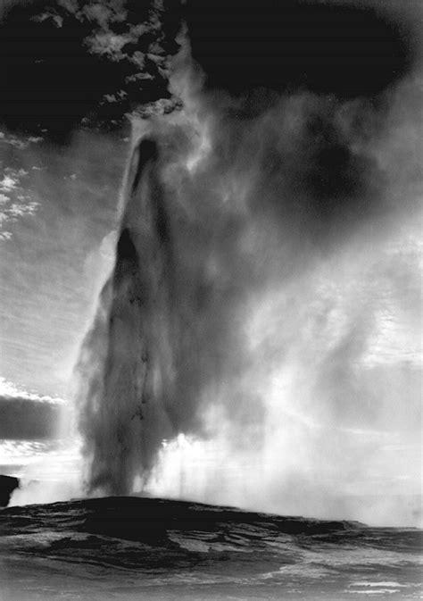 Ansel Adams :: Old Faithful Geyser, Yellowstone National