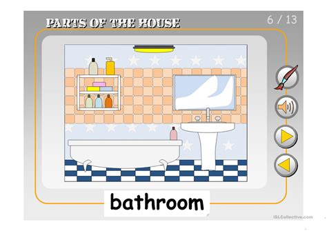 7 Things To About His Parts by Parts Of The House Ppt Worksheet Free Esl Projectable