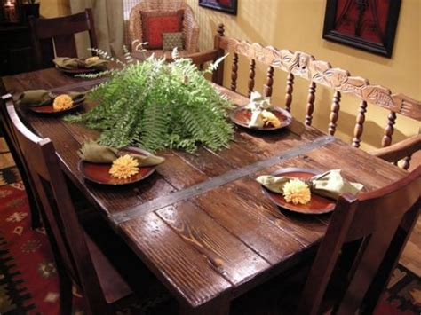 Dining Room Materials Build A Dining Table From Salvaged Materials Hgtv