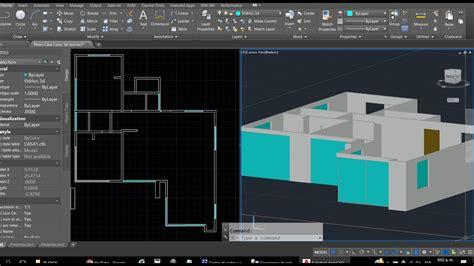 curso de autocad gratis parte 01 hacer plano de una casa curso autocad 3d dibujar plano de casa en 3d parte 1