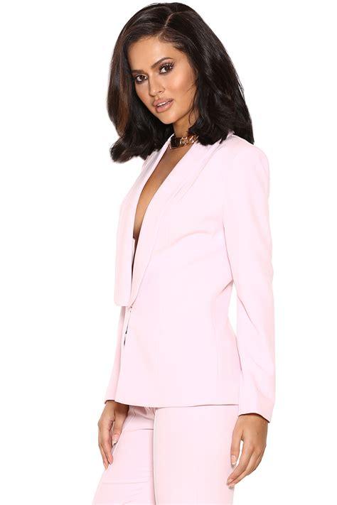 light pink suit womens clothing 2 pieces tristana light pink crepe trouser suit
