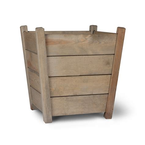 Large Wood Planters by Kingham Planter Large Spruce Garden Trading