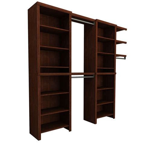 closetmaid impressions 8 ft 12 ft wide cherry