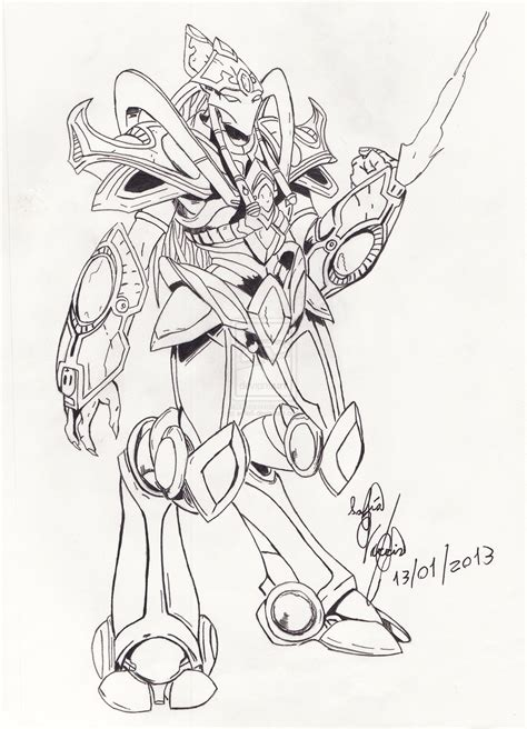 starcraft 2 protoss coloring pages sketch coloring page