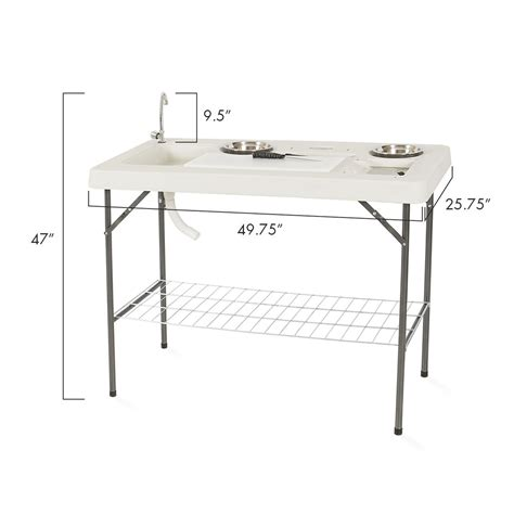 Portable C Fish Cleaning Table With Faucet by Fully Equipped Portable Fish Table Set Cleaning