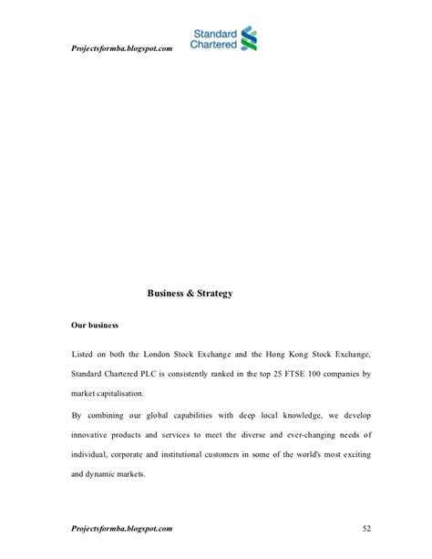 Bank Letter Lse A Study Of Management At Standard Chartered Bank