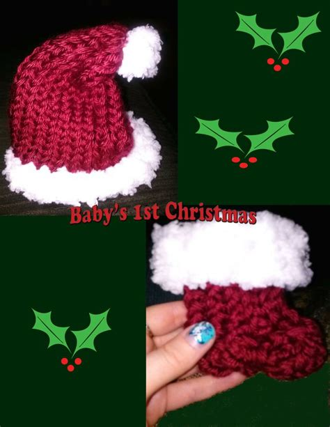 boye loom knitting patterns newborn santa hat booties made on boye flower loom