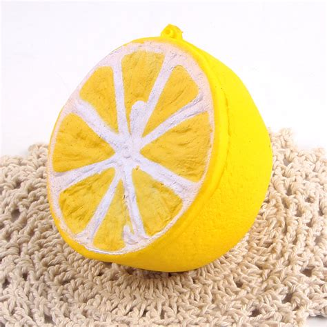 Promo Jumbo Lemon Squishy By Sanqi Elan sanqi elan squishy jumbo lemon 11cm rising original packaging fruit collection decor gift