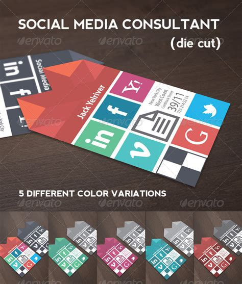 social media consultant business card graphicriver