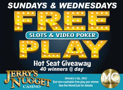 Free Game Giveaways - free play giveaway jerry s nugget