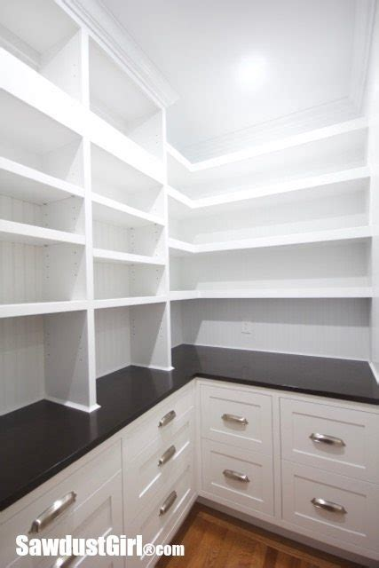 walk in pantry cabinets and countertop - Pantry Counter