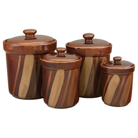 Brown Kitchen Canister Sets sango 4 piece avanti canister set walmart com