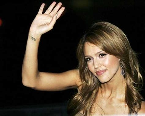 jessica alba wrist tattoo meaning disasters favorite design