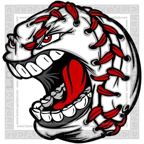 baseball graphic vector clipart screaming baseball