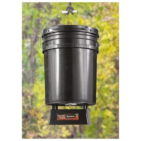Feeders 5 Gallon kenco 174 smart timer feeder timer with 5 gallon
