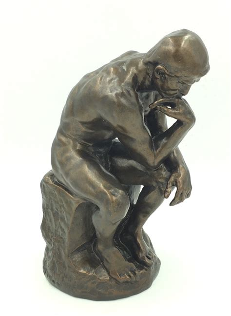thinker statue  deep contemplation  rodin rodin