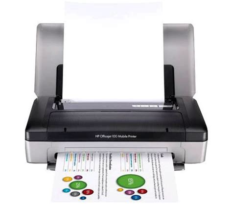 Printer Hp Bluetooth hp officejet 100 mobile printer with bluetooth qvc