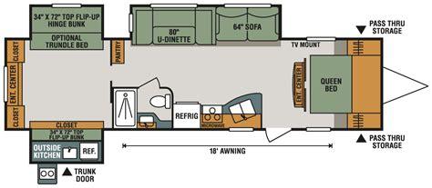 sportsman rv floor plans sportsmen 323bhk travel trailer k z rv