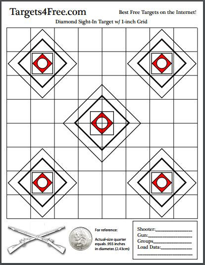 printable grid shooting targets sight in target w grid free printable shooting targets