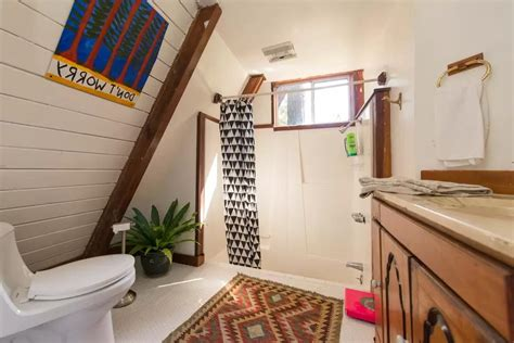 Flooring Ideas For Small Bathrooms perfect retreat in a frame tiny cabin you ll love it