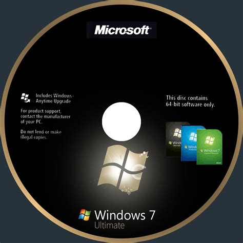 Windows Dvd 7 Original windows 7 ultimate pc software cd cover dvd front