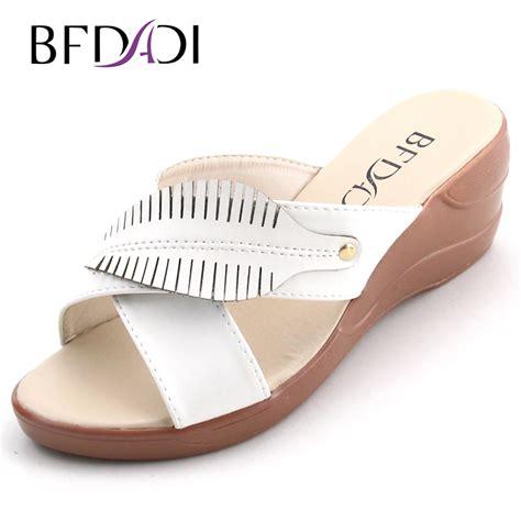 Sandal Wedges Ym08 Hitam 42 bfdadi big size 37 42 summer style wedges sandals 2016 casual platform sandals open