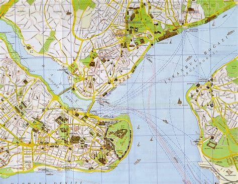 map of istanbul istanbul map maps of istanbul turkey tourist map