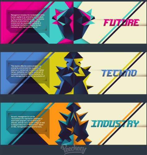 design large banner in illustrator cool techno banners free vector in adobe illustrator ai