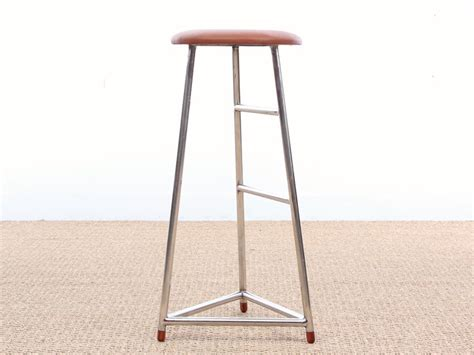 mid century style bar stools mid century modern style bar stool in steel and leather