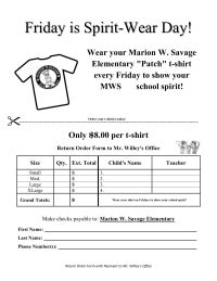 T Shirt Order Form Sle Spiritwear Day Relevant Portrayal And Thumb Dreamswebsite T Shirt Fundraiser Order Form Template