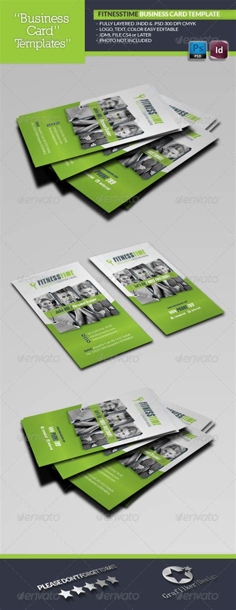 snap fitness business card template fitness time business card template by grafilker