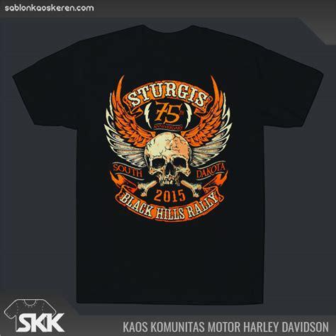 Design Kaos Harley | kaos komunitas motor menggunakan desain unik agar terlihat